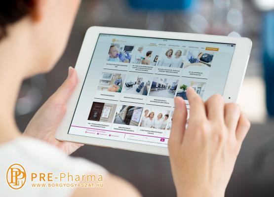 Bőrgyógyászat honlap ipad